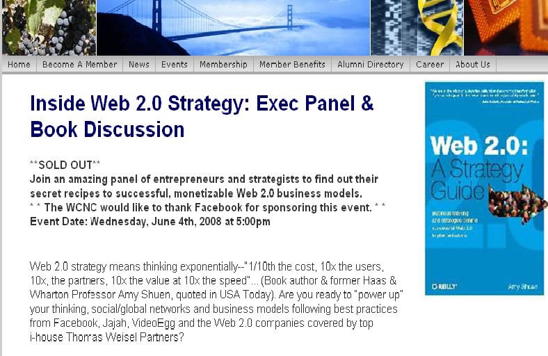 Wharton Inside Web 2.0 strategy panel